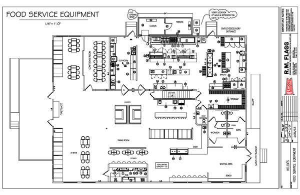 Restaurant Design | Professional Planning | R.M Flagg | Bangor, MaineRM Flagg